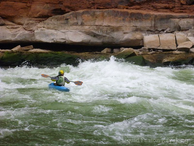 Karen at he bottom of House Rock Rapid.