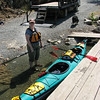 Kayak loaded up and ready to go after the Ross Lake Portage