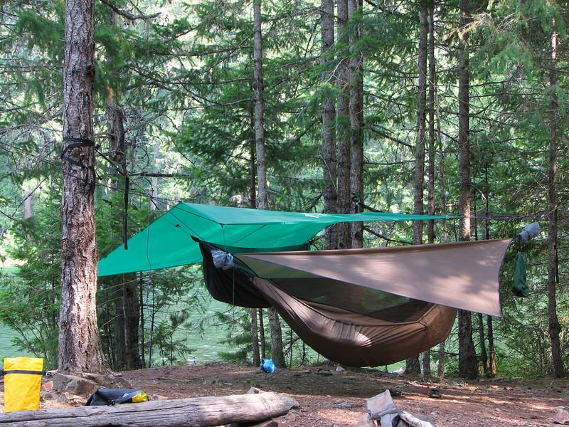 We used hammocks at Spencer's camp site