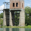 An old tower used to control the sluice gates on the dam.