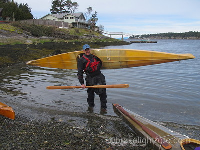Brian Henry with Skin on Frame Traditional Kayak