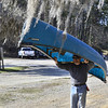 Easiest way to carry a canoe.