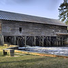 Back side of the Old Water Mill on Watson Pond at George L Smith state park