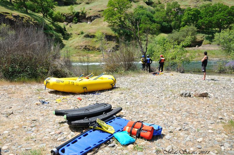 Swift water rescue training, Russian Rapids