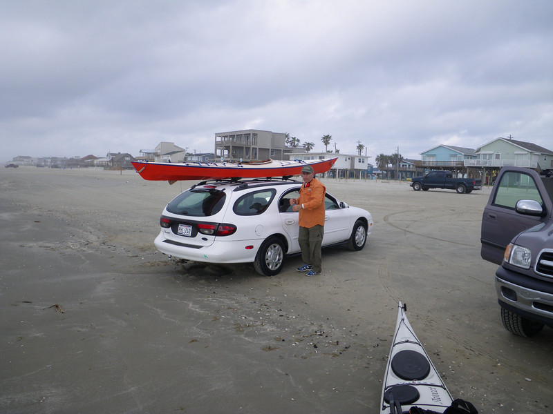 Offloading kayaks at the end of the state park