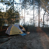 This is the nearby no frills tent camping area with a great view of the lake. It's on a small bluff.