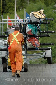 Unloading Kayaks from the Queen of Chilliwack