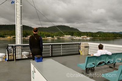 Approaching the dock at Shearwater