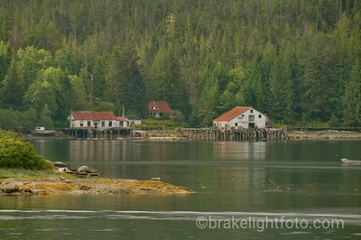 Abandoned Buildings on opposite shore from Bella Bella
