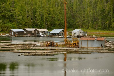Floatng Logging Camp at Shearwater