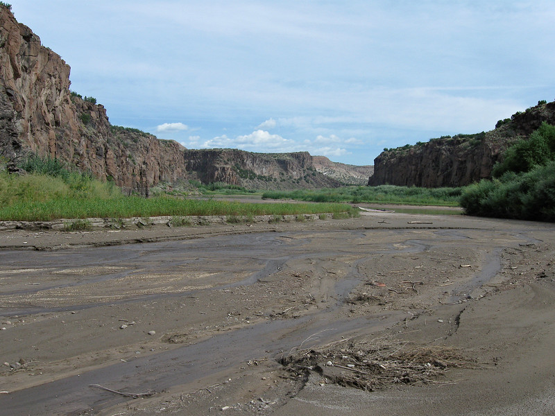 Mudflats at Cochiti Canyon