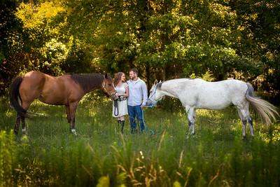 Kayla, Cameron, and horses
