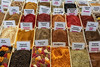 Colourful spices for sale at the Green (Zelyony) Bazaar, Almaty, Kazakhstan