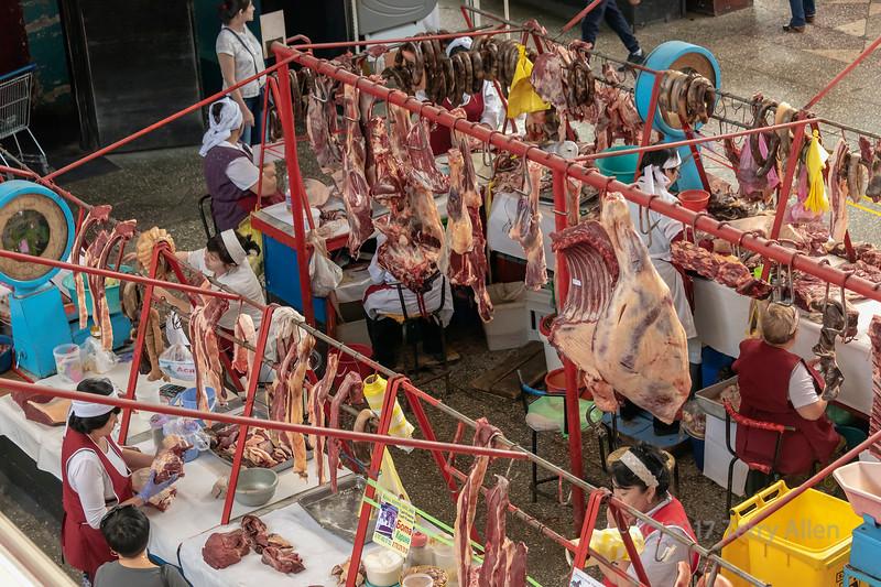 Horse meat for sale, at Zelyony (Green) Bazaar, Almaty, Kazakhstan