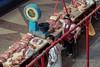 Pork sales at the Green Bazaar (Zelyony Bazaar), Almaty, Kazakhstan