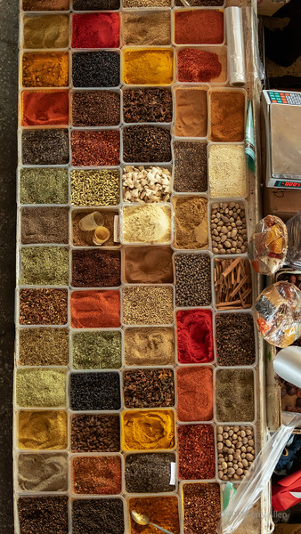 Spices for sale at the Green (Zelyony) Bazaar, Almaty, Kazakhstan