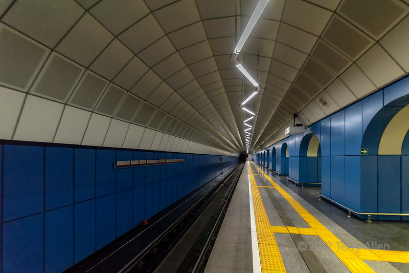 Deserted subway, Baikonur Metro Station, Alamty, Kazakhstan
