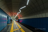 Train leaving the subway station,, Baikonur Metro Station, Almaty, Kazakhstan