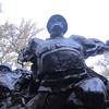 War memorial in the Panfilov Park.