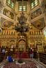 Ascension (Zenkov) Cathedral interior, wooden nailess, 1906, Panifilov Park, Almaty, Kazakhstan