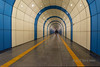 Vanishing point, Baikonur Metro Station, Alamty, Kazakhstan