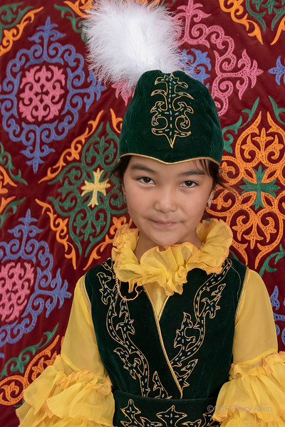 Portrait of a Kazakh girl