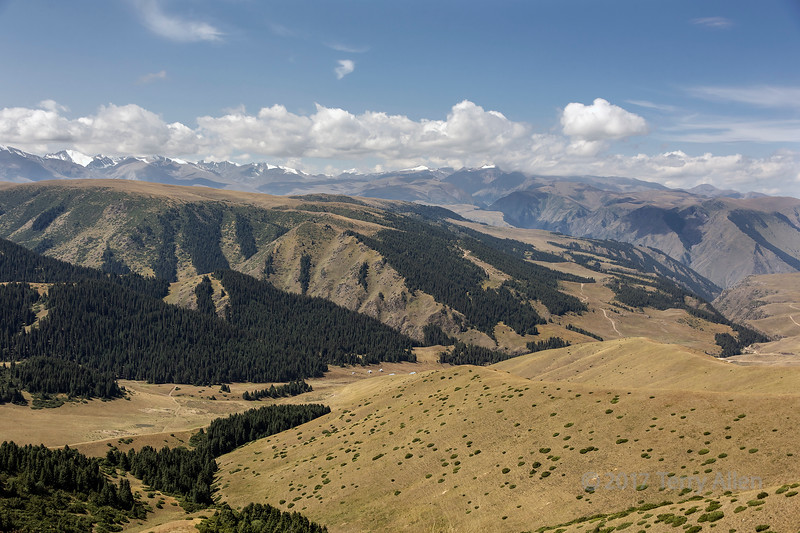 View towards the Tian Shan mountains from the Assy Turgen Observatory, Assy Plateau, Kazakhstan