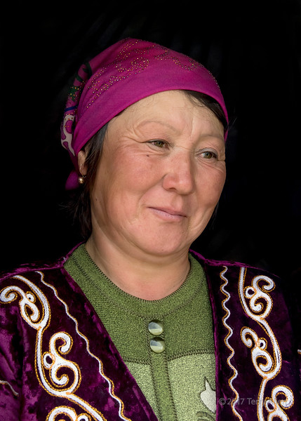 Portrait of a Kazakh woman