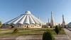 Early morning,rear view Sheikh Khalifa Mosque, Shymkent, Kazakhstan