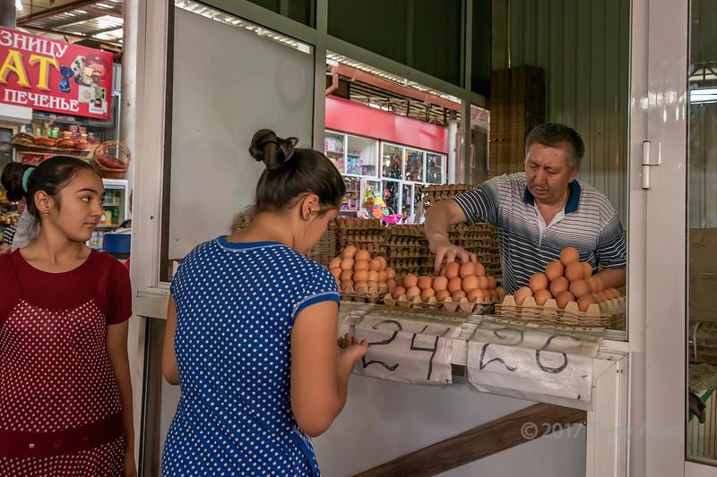 Egg sales, Shymkent market, Kazakhstan