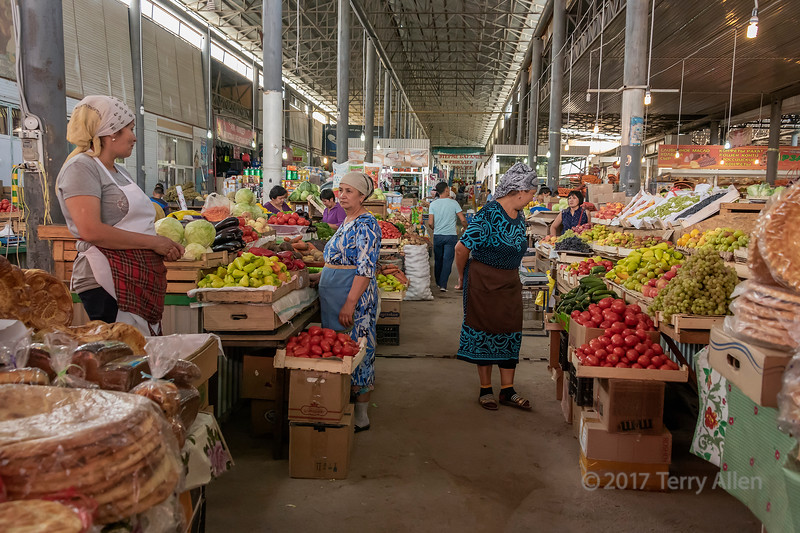 Market scene, Shymkent market, Shymkent, Kazakhstan