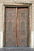 Beautlful carved wooden main door to mausoleum of Khoja Ahmed Yasawi, Turkestan, Kazakhstan