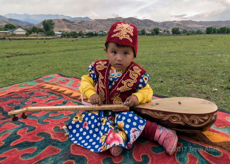 Child with balalaika
