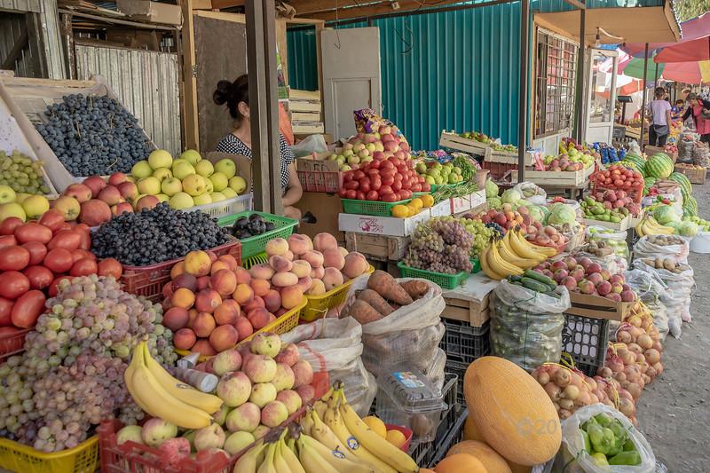 Roadside fruit and vegetable market, Saty, Tian Shan Mountains, Kazakhstan