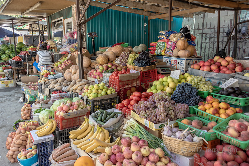 Open air fruit and vegetable market, Saty, Tian Shan Mountains, Kazakhstan