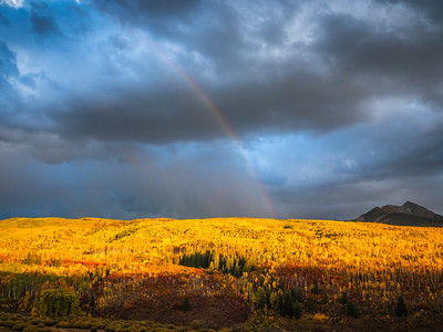 Kebler Pass Rainbow 2! Colorado Fall Colors Fine Art Landscape Nature Photography Fuji GFX100  Elliot McGucken Fine Art Landscape Nature Photography Prints & Wall Art