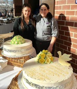 Lucia Arevalo, left, and Anna Jabar, both of Lowell, from Two Chefs Are Better Than One