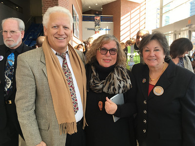 From left, Tom Amygdalitisis of Greece, and Eleni Zohdi and City Councilor Rita Mercier, both of Lowell