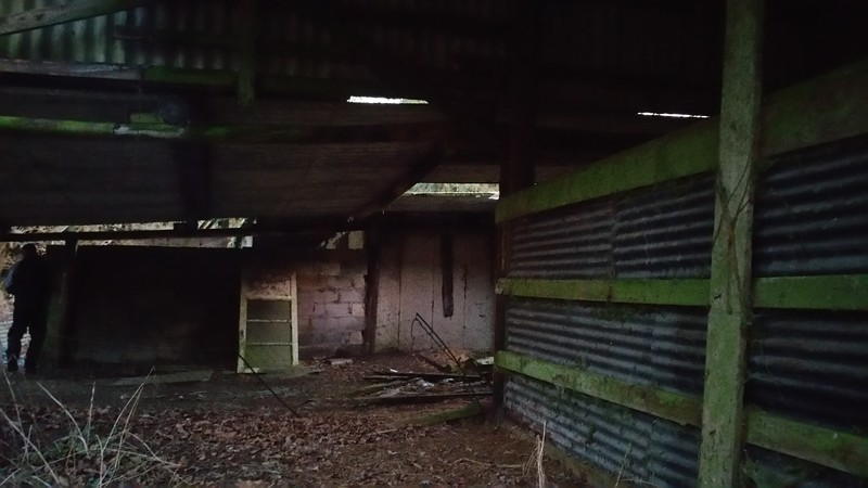 We search the outbuildings first..all a bit ramshackle.