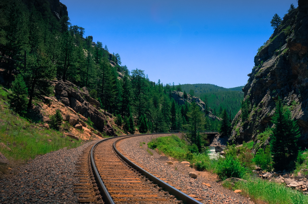 Train Tracks in the Rocky Mountains