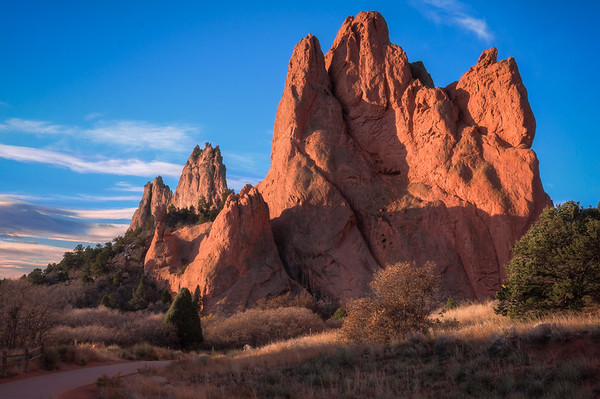 Garden of the Gods, Sunrise Casting Light