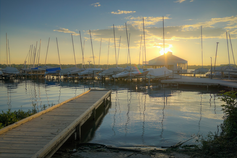 Corinthian Sailing Club at Sunset