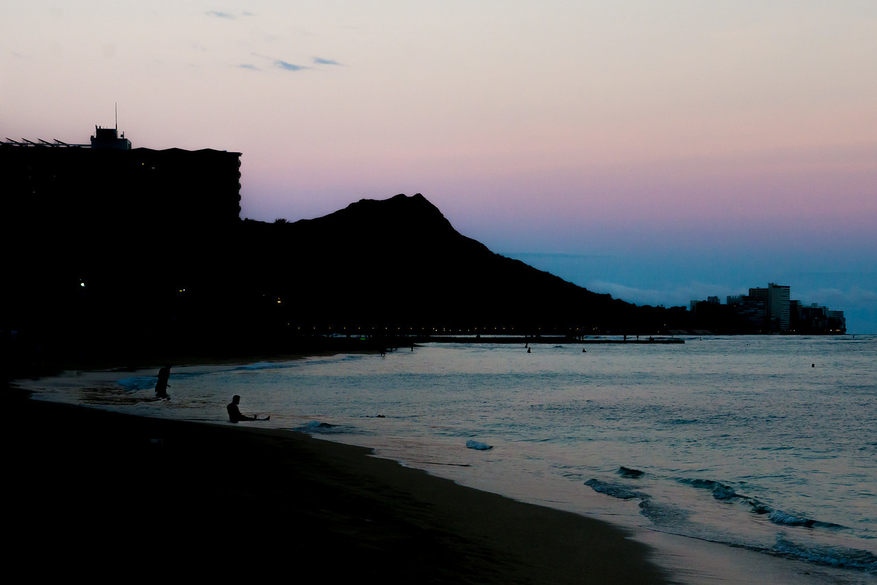Diamond Head Silhouette