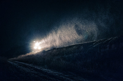 Train Through a Winter Night