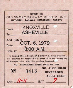 Round Trip, 1979 (Knoxville - Asheville)