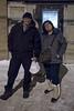 Leo Metatawabin and his sister Denise Lantz outside the Sky Ranch Restaurant.