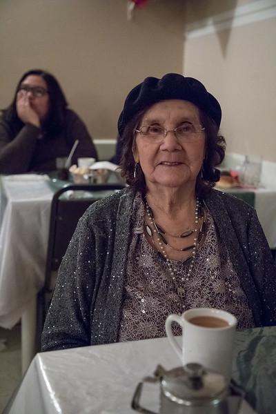 2016 December 13th board meeting of Keewaytinok Native Legal Services at the Sky Ranch Restaurant in Moosonee. Anna Bella Goulet.