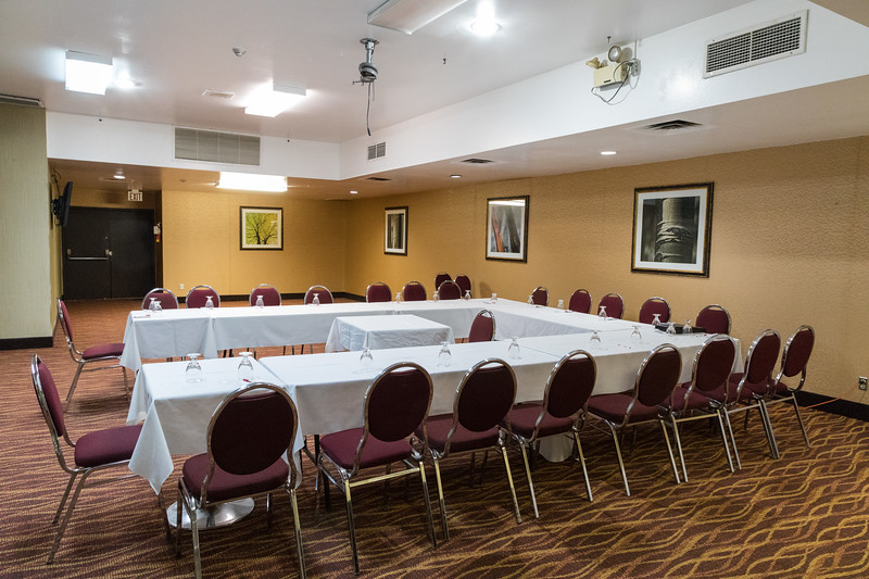 Ramada Inn Timmins. Set up for Keewaytinok Native Legal Services Annual General Meeting. 2018 February 17th.