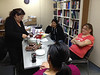 Hallowe'en 2013 at Keewaytinok Native Legal Services. Celebrating Pauline Sackaney's first year as office manager.