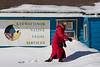 Kathy Laird outside Keewaytinok Native Legal Services in Moosonee.